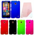Hard Cover Rubberized Case + Screen Protector Accessory For Nokia Lumia 635