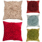 Scatter Box Bloom Ruffle Feather Filled Cushion, 45 x 45 Cm