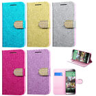 For HTC One M8 Premium Wallet Case Pouch Flap STAND Cover Accessory