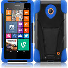 For Nokia Lumia 635 Advanced KICK STAND Rubber Phone Case Cover Accessory