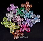 30pcs Cute Mixed Randomly Clear Acrylic Faceted Butterfly Shaped Spacer Beads