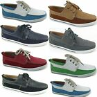 Men's Lace Up Boat Shoes Casual Oxfords Deck Shoes by Polar Fox Moccasin Toe NEW