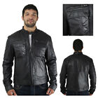 Cockpit USA Men's Bloomies Goat Skin Leather Moto Jacket