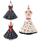 2014 GK CLASSY VINTAGE 50S ROCKABILLY RETRO STYLE SWING PARTY PINUP PROM DRESS