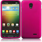 LG Lucid 3 VS876 Rubberized HARD Protector Case Phone Cover + Screen Protector