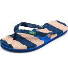 Striped Flip Flops Men's Beach Sandals Thongs Massage Sole Light Weight EVA Base