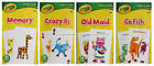 CRAYOLA* 36pc Kids GAME CARDS Go Fish+Memory+Old Maid+Crazy 8s NEW *YOU CHOOSE*