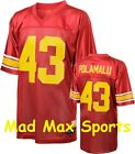 TROY POLAMALU Red NCAA Rivalry USC Trojans LEGENDS Tackle THROWBACK Jersey M-2XL