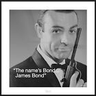"SEAN CONNERY / JAMES BOND - FRAMED ART PRINT / POSTER (SIZE: 16"" x 16"") $37.95 USD on eBay"