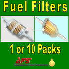 IN-LINE FUEL FILTER Petrol & Diesel - Small/Large/Long 6mm/8mm/12mm Hose Pipe