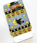3 PC Kitchen Dish Towel Set 100% Cotton for Halloween Pumpkins Witches Scary