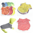 Comfy Cotton Pretty Dogs Puppies Pet Clothing 5 Color Stripe Tank Tops Multi Sz