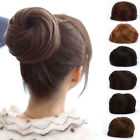 Girl Synthetic Scrunchie Drawstring Bun Hairpiece Clip in Hair Extension 6Colors