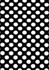 Polka Dot Craft Felt A4  Rectangles 23x30cm Acrylic - BLACK & WHITE DOTS