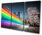 Abstract Los Angeles abstract  TREBLE CANVAS WALL ART Picture Print VA