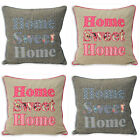 Paoletti Sweet Cottage Home Sweet Home Cushion Cover