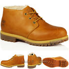 MENS TIMBERLAND CASUAL LACE UP WINTER CHUKKA WHEAT LEATHER ANKLE FUR BOOTS SIZE