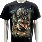 sc51 M L XL XXL Survivor Chang T-shirt Tattoo Glow in Dark Dragon Casual Skull