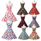 NEW CLASSY VINTAGE 1950's ROCKABILLY FLORAL STYLE SWING PARTY EVENING TEA DRESS