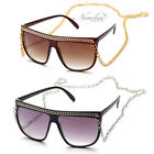 Black Snooki Sunglasses Long Chain Women GaGa Glasses Jersey Shore Celebrity