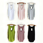 WO Hot Women's Casual Wotefusi Sexy Modal Basic Ribbed Tank Tops Vest Sleeveless