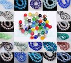 HOT 100pcs 4mm Rondelle Faceted Crystal Glass Finding Charms Loose Spacer Beads