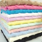 PER METRE/ FAT QUARTER soft minky dimple fleece white ivory pink blue mint lemon