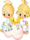 """6.5-10.5""""  PRECIOUS MOMENTS ANGEL WALL STICKER GLOSSY BORDER CHARACTER CUT OUT"""