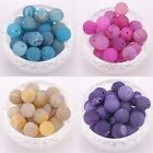10pcs Round Agate Gemstone Spacer Beads fit Charms Braid Bracelet,4color to PIck