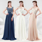 Top Sexy Designer Long Chiffon Evening Party Prom Gown Bridesmaid Beaded Dresses