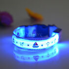 Stylish Flashing LED Light Pet Puppy Dog Safety Nylon Collar Length Adjustable
