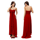 Glamorous Sweetheart Beaded Strapless Formal Gown Evening Dress Scarlet