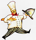 "5-9"" FAT ITALIAN CHEF KITCHEN WALL SAFE STICKER CHARACTER BORDER CUTOUT"