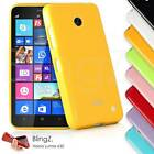 Colorful Silicone Gel Jelly TPU Rubber Phone Case Cover for Nokia Lumia 630
