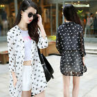 Lady Sun Protective Fly Away Big Size Blouse Loose Top Coat Jacket Open Cardigan