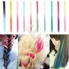 New Colorful Synthetic Fiber Straight Hair Extensions Clip In Hair Pieces Wig
