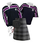 Sports Kit Essential 8yd Kilt Outfit - Purple Stripe Rugby Top - Hamilton Gray