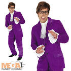Austin Powers Suit Fancy Dress Mens 1960s Movie Costume 60s Adult Movie Outfit