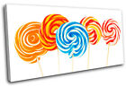 Lollies Sweets For Kids Room SINGLE CANVAS WALL ART Picture Print VA