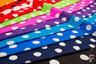 POLKA DOTS - 20 mm SPOTS ON PRINTED POLY COTTON FABRIC  - WIDTH 114 CM