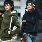 New Fashion Korea Women Hoodie Fleece Jacket Coat Warm Outerwear Hooded Zip Up