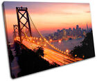San Francisco City SINGLE CANVAS WALL ART Picture Print VA