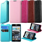 For LG Optimus F6 D500 MS500 Tray Folio Flip Leather Wallet Case Pouch Kickstand
