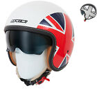 SPADA RAZE EMPIRE BRITISH UK FLAG OPEN FACE SCOOTER MOTORCYCLE CRASH HELMET
