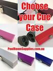 Choose your Snooker Pool Billiard Cue Case Black, Pink, Blue, Purple, Silver etc $34.0 AUD on eBay