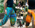MENS HAREM PANTS - REAL TIE DYE - BEACH BALLOON RAYON FASTDRY (MX2)