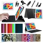 Slim Bluetooth Keyboard Stand Cover Case Bundles for Samsung Galaxy Tab 4 10.1