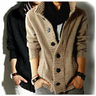 Men's knitted Slim Fit Polo Casual Jumper Cardigan Long Sleeve Clothing Coat S M
