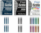 PILOT PARALLEL PEN REFILL INK CARTRIDGES Calligraphy CHOOSE Colors Black or Blue