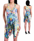 WOMENS DRESS S-12 Sublimation Embellished  Rhinestone Crochet applique  S M L